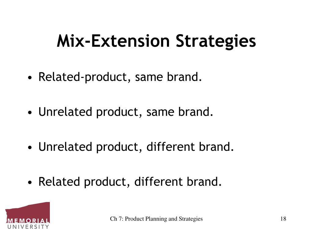 Mix-Extension Strategies