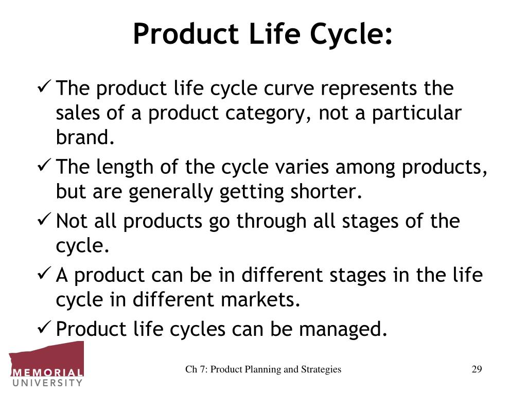 Product Life Cycle: