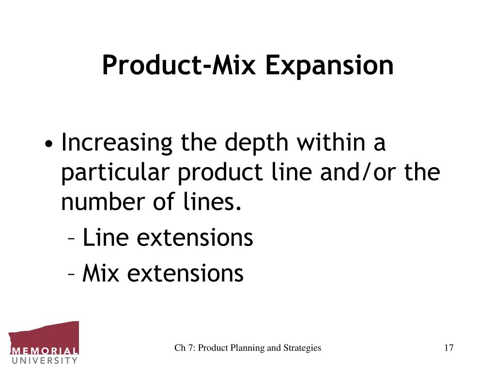 Product-Mix Expansion