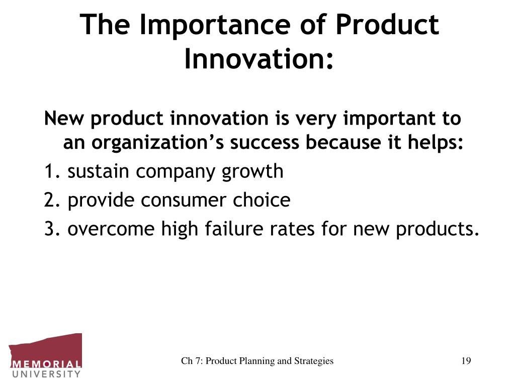 The Importance of Product Innovation: