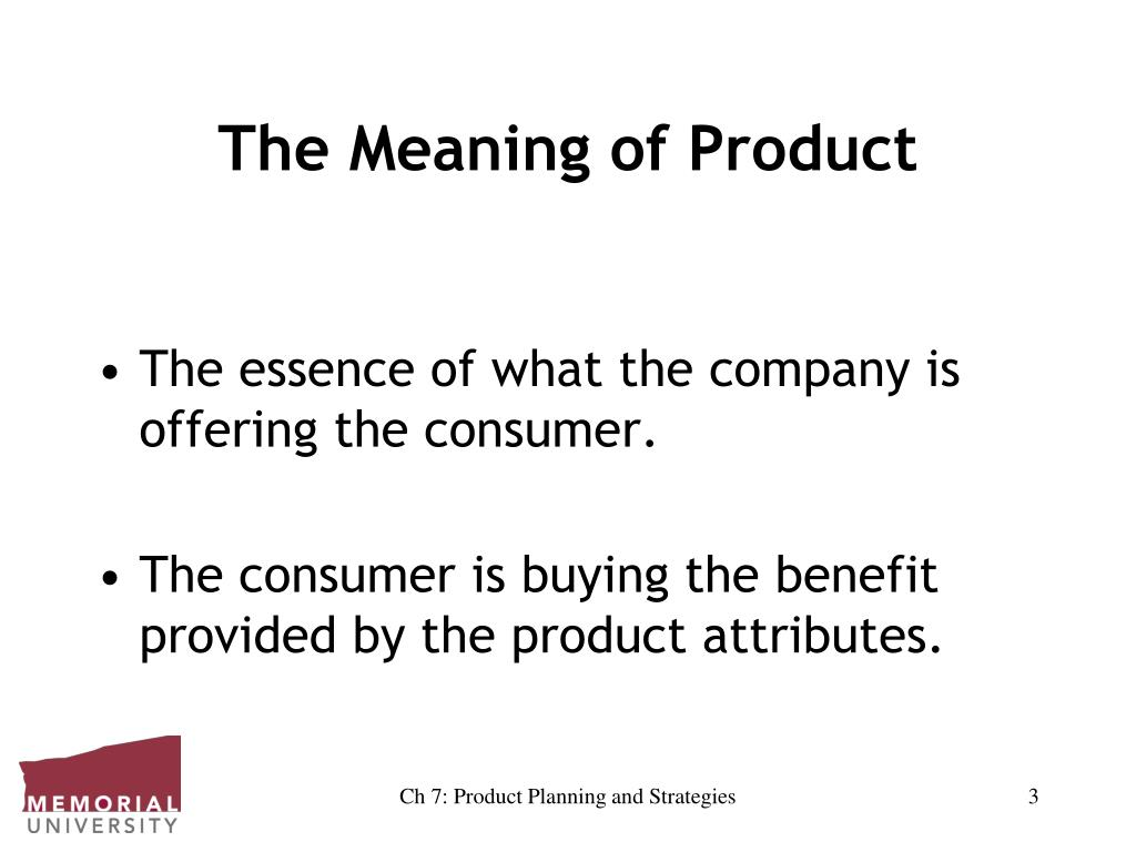The Meaning of Product