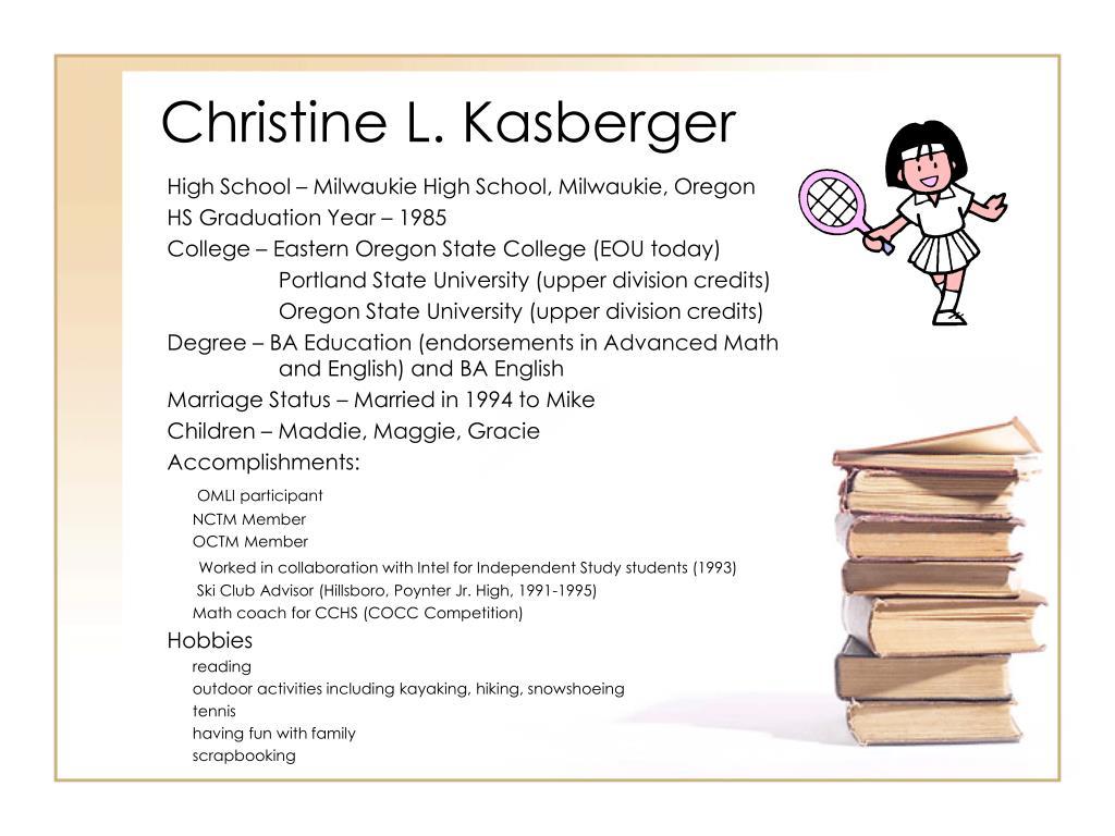 Christine L. Kasberger