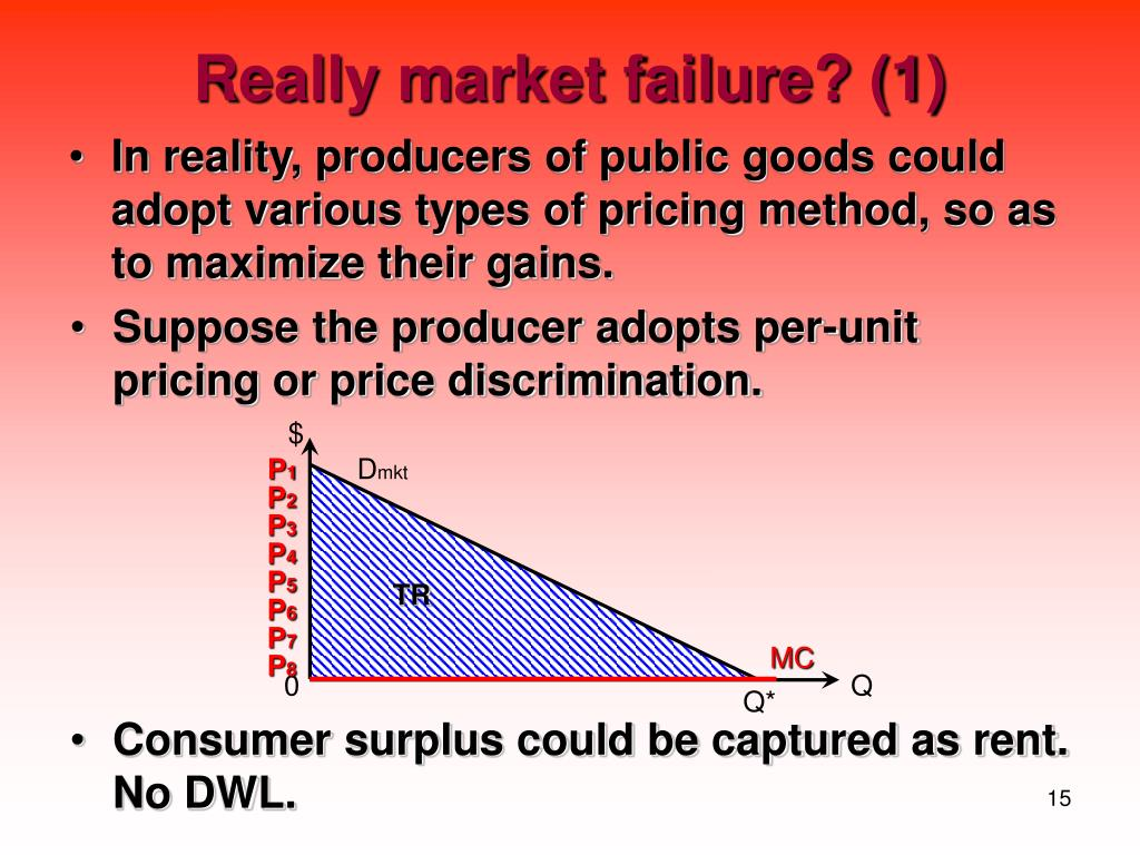 In reality, producers of public goods could adopt various types of pricing method, so as to maximize their gains.