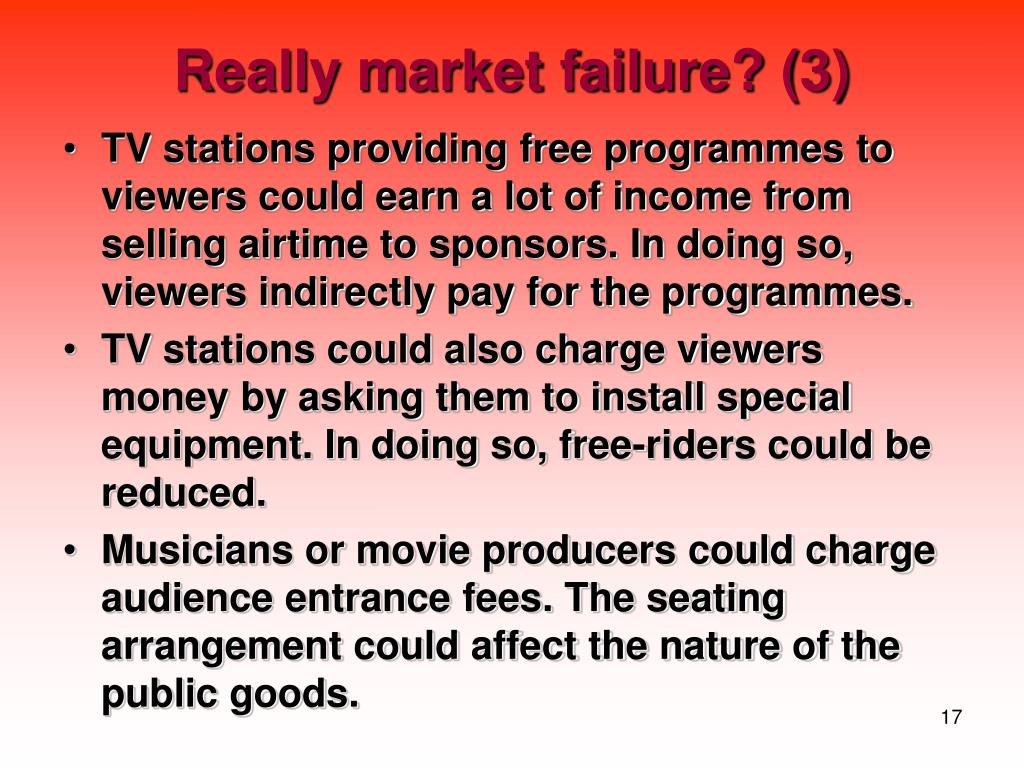 Really market failure? (3)