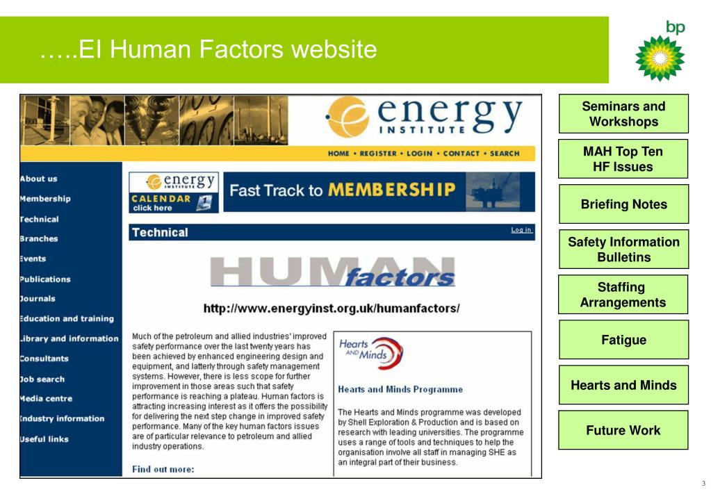 …..EI Human Factors website