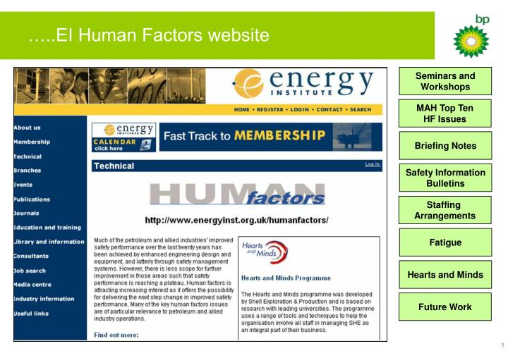 Ei human factors website