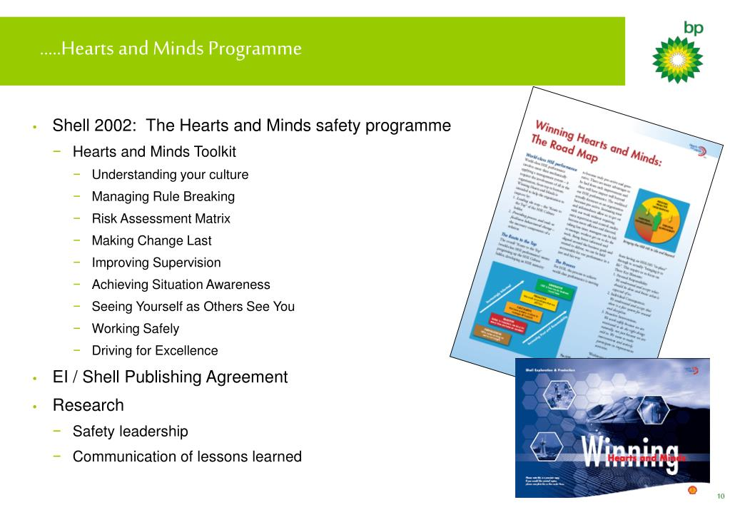 …..Hearts and Minds Programme