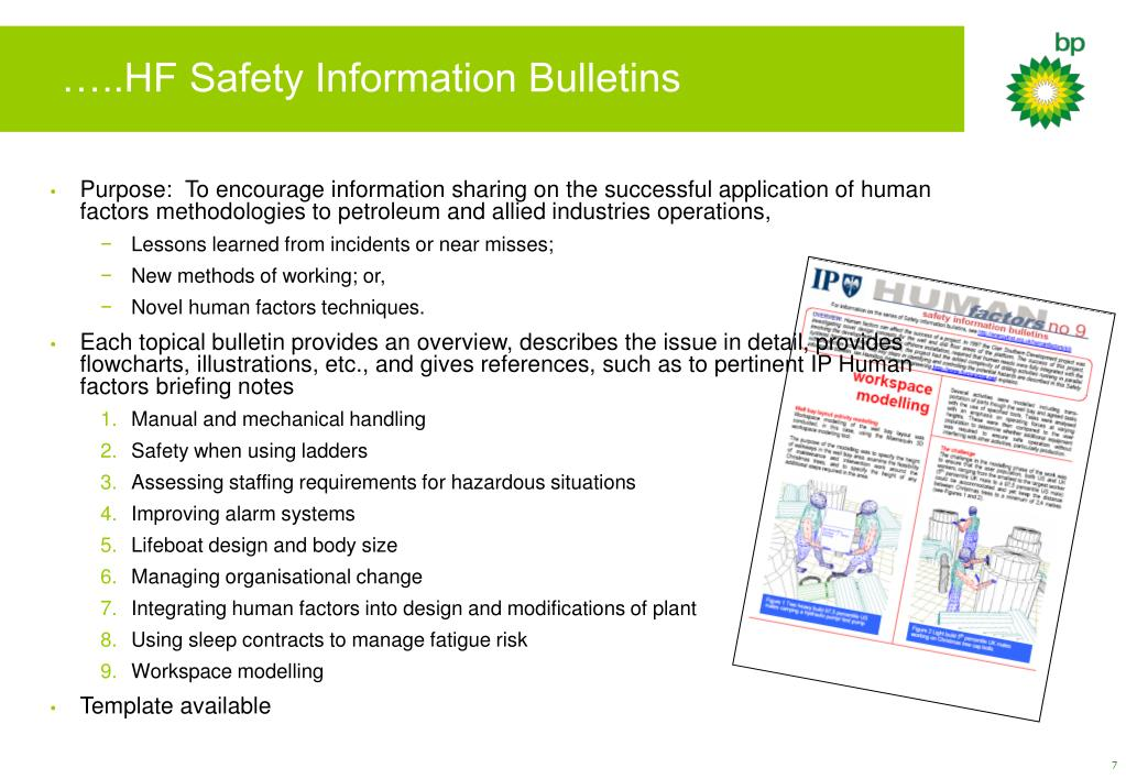 …..HF Safety Information Bulletins