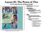 layout 1 the power of five use five page elements and keep it simple