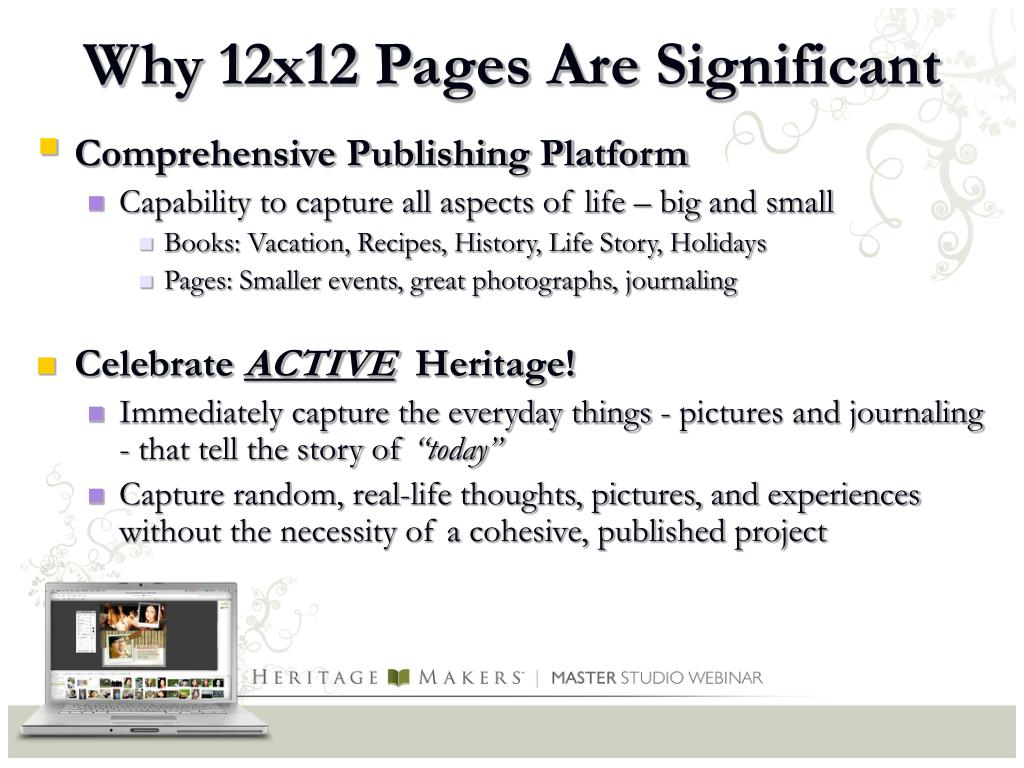 Why 12x12 Pages Are Significant