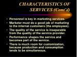 characteristics of services cont d13