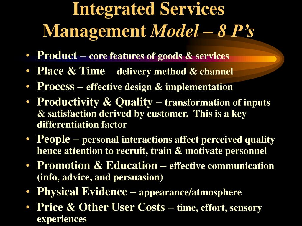 Integrated Services Management