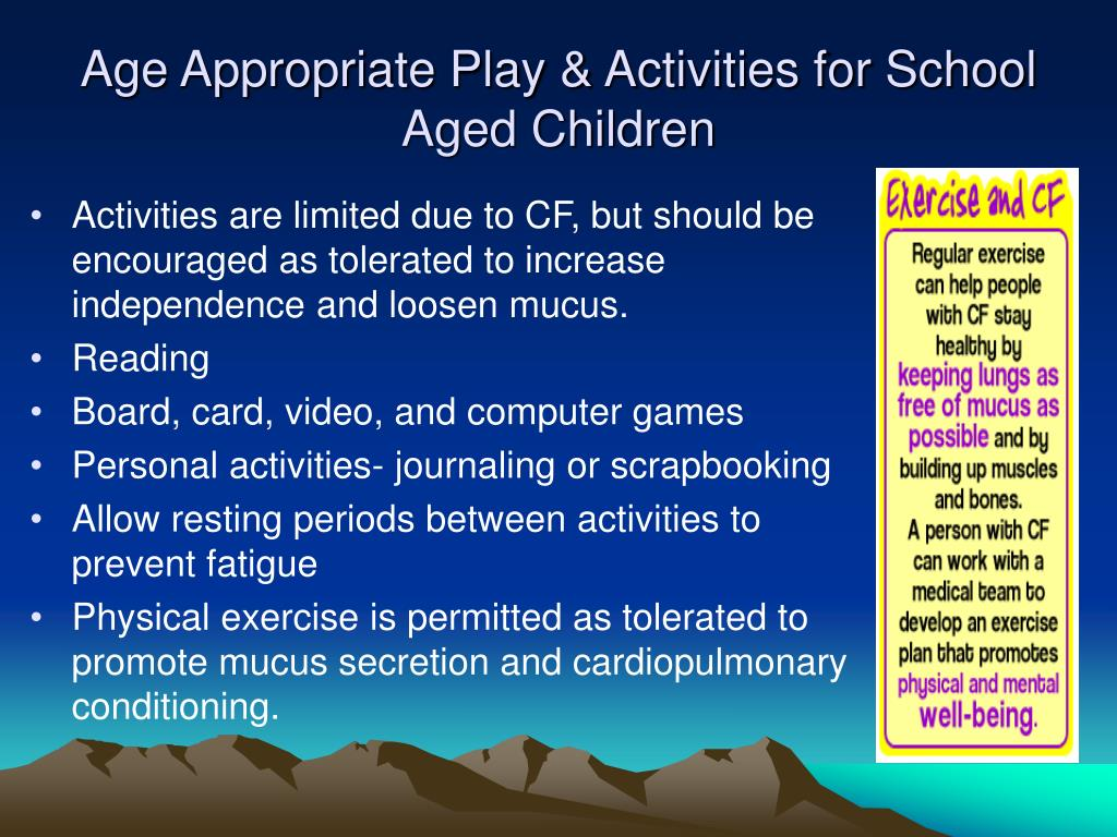 Age Appropriate Play & Activities for School Aged Children