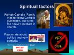 spiritual factors