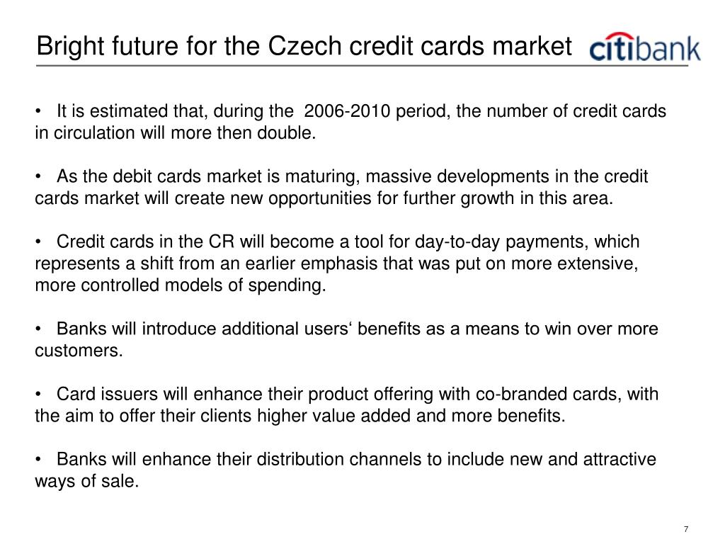 Bright future for the Czech credit cards market