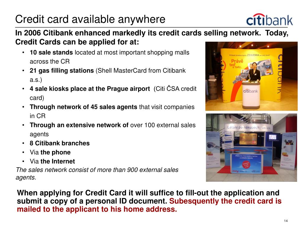 Credit card available anywhere