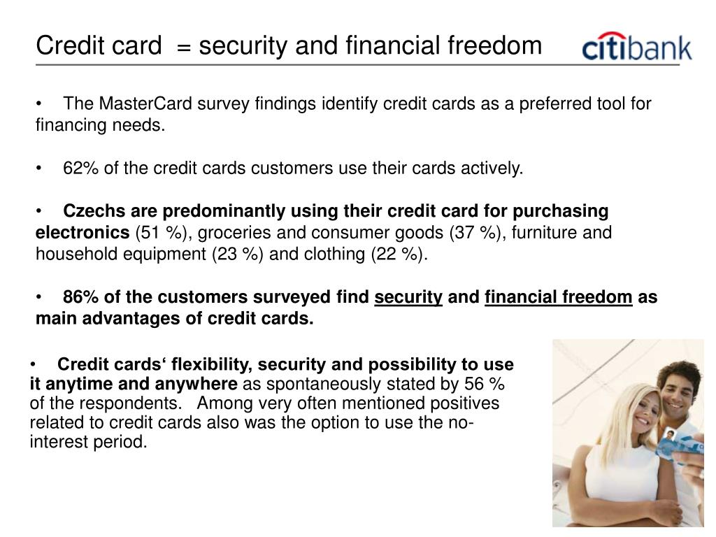 Credit card  = security and financial freedom