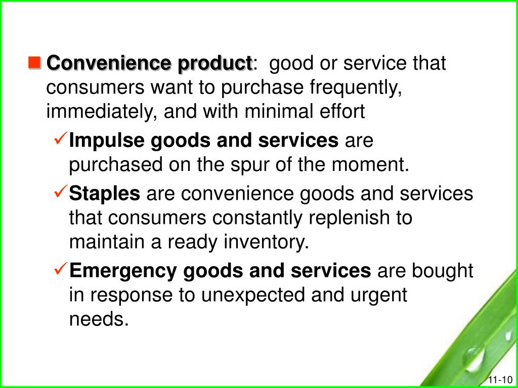 Convenience product