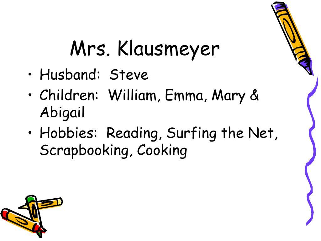 Mrs. Klausmeyer