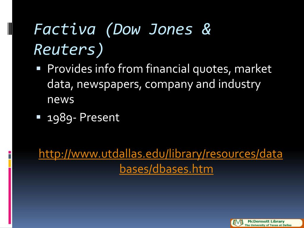 Factiva (Dow Jones & Reuters)