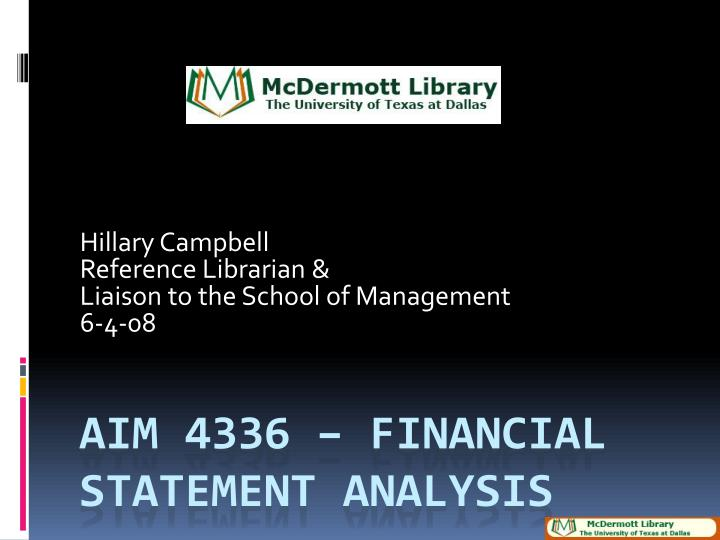 Hillary campbell reference librarian liaison to the school of management 6 4 08