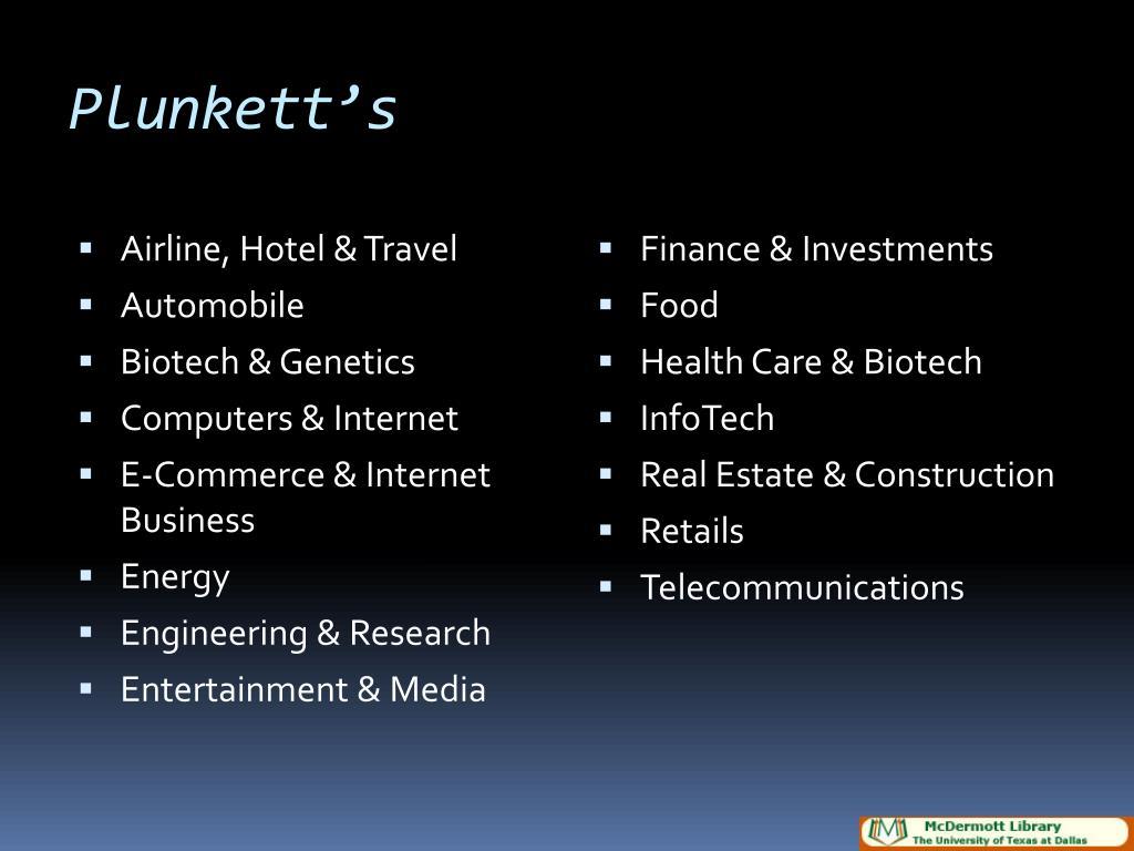Plunkett's