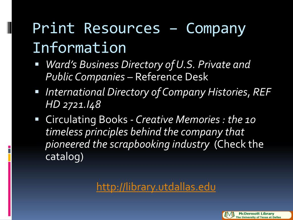Print Resources – Company Information