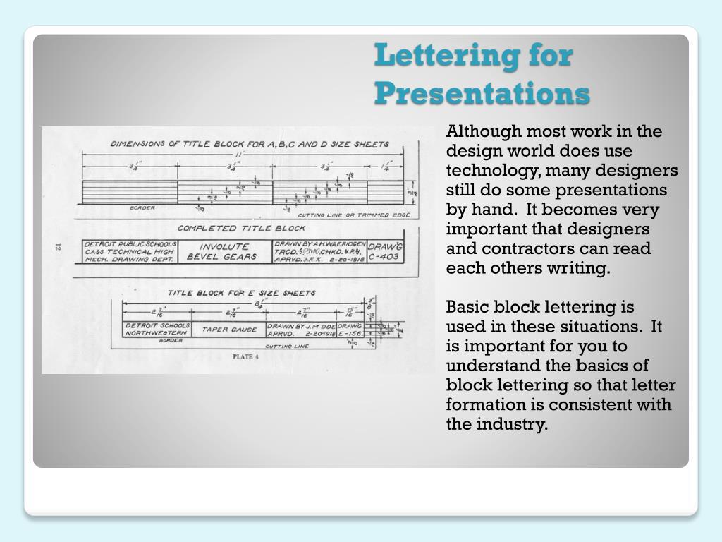 Lettering for Presentations