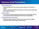 business cycle fluctuations