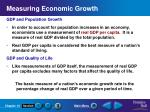 measuring economic growth