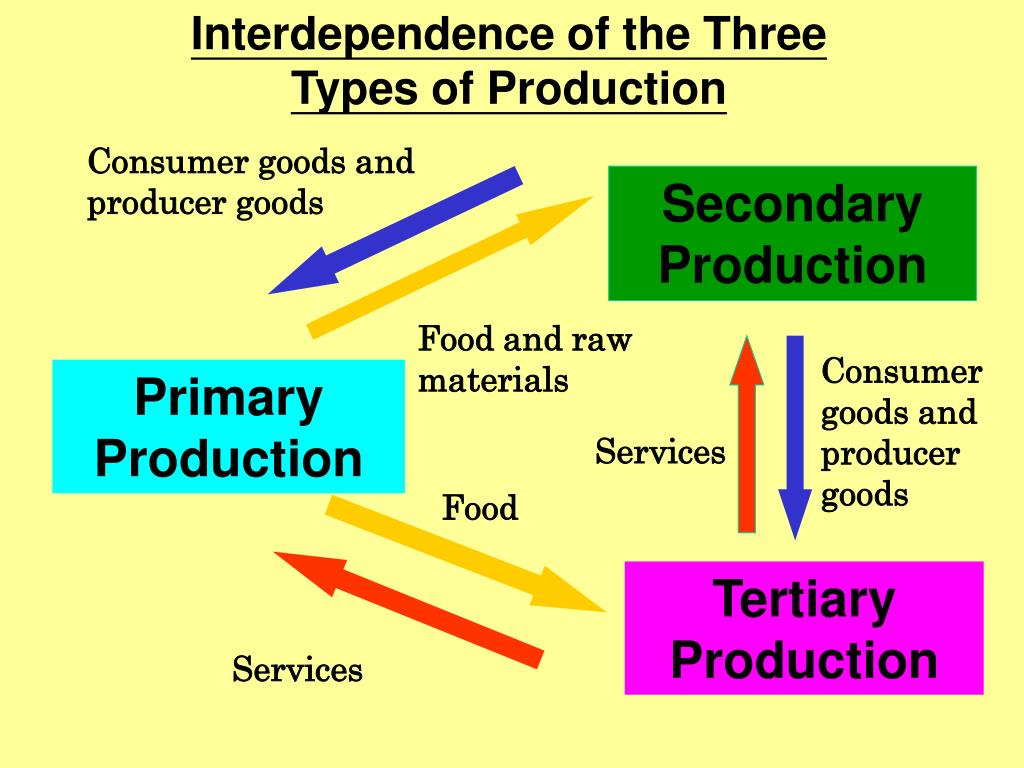 Interdependence of the Three Types of Production