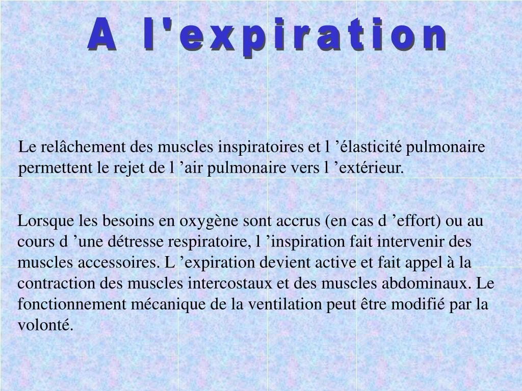 A l'expiration