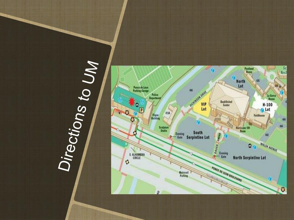 Directions to UM