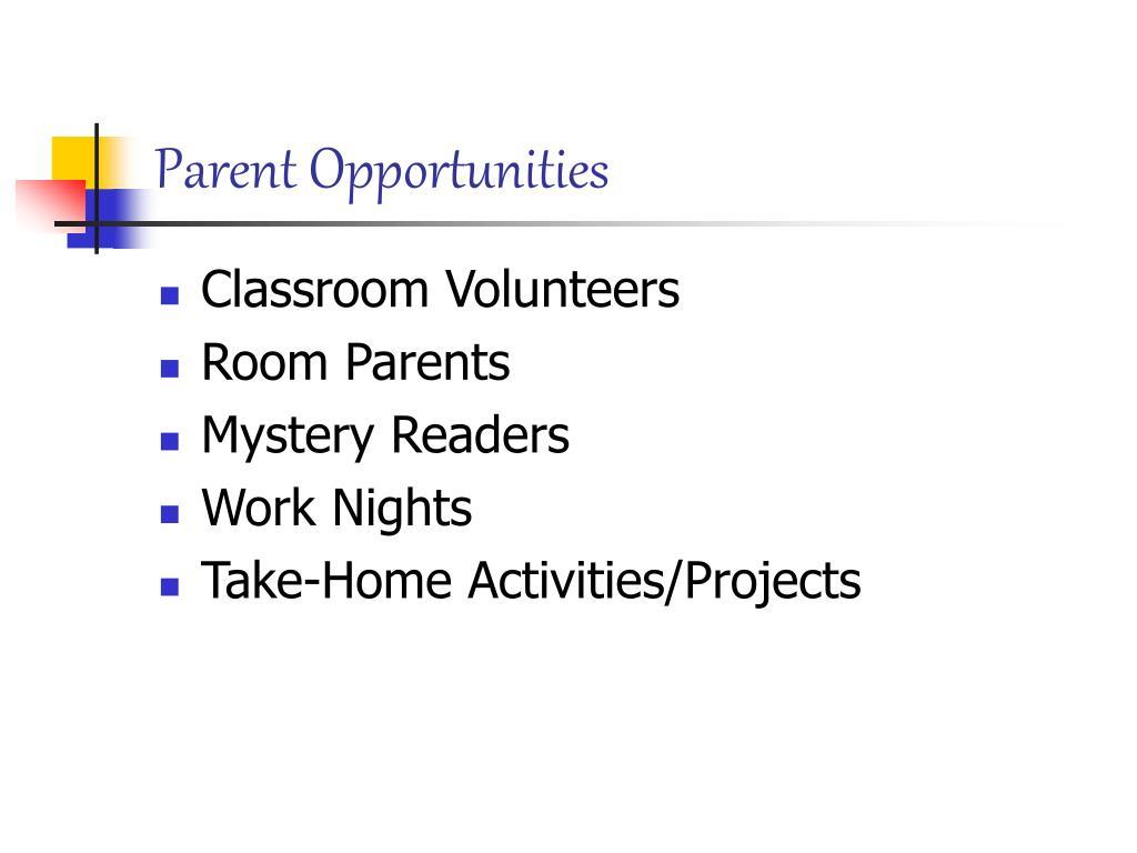 Parent Opportunities