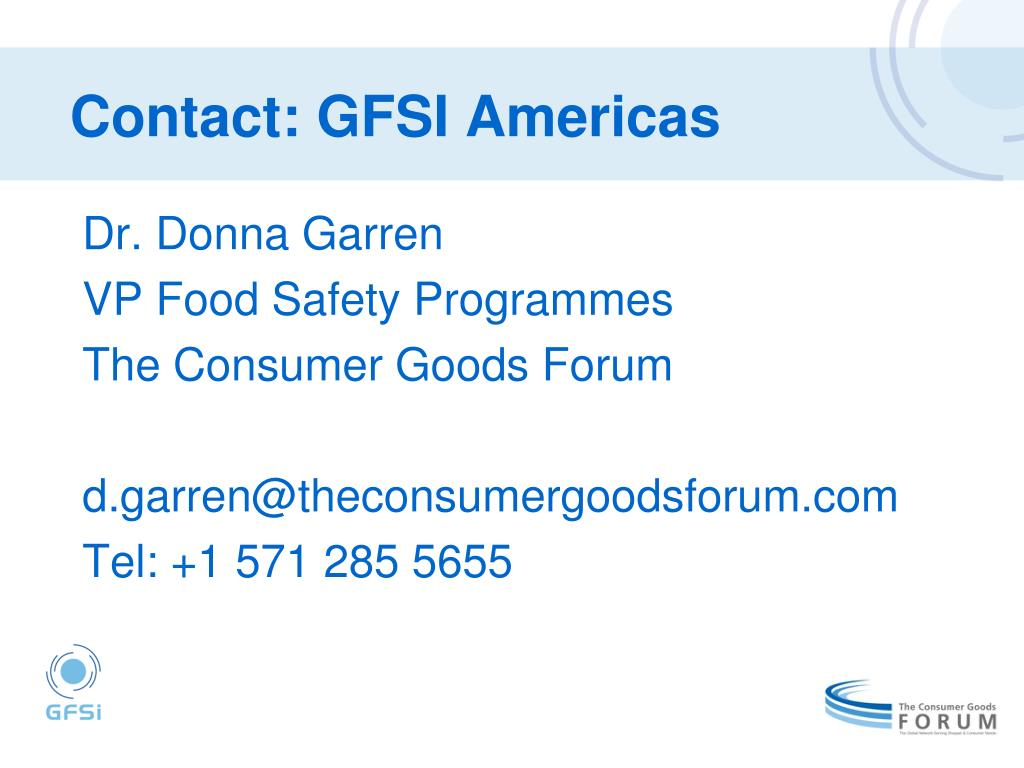 Contact: GFSI