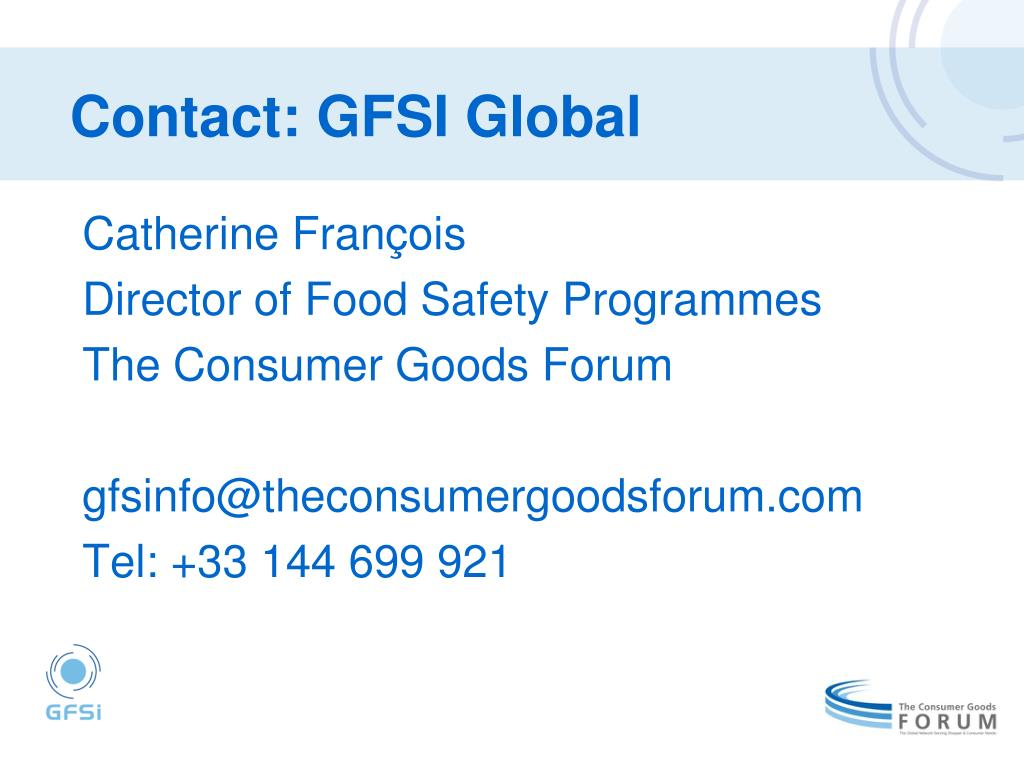 Contact: GFSI Global