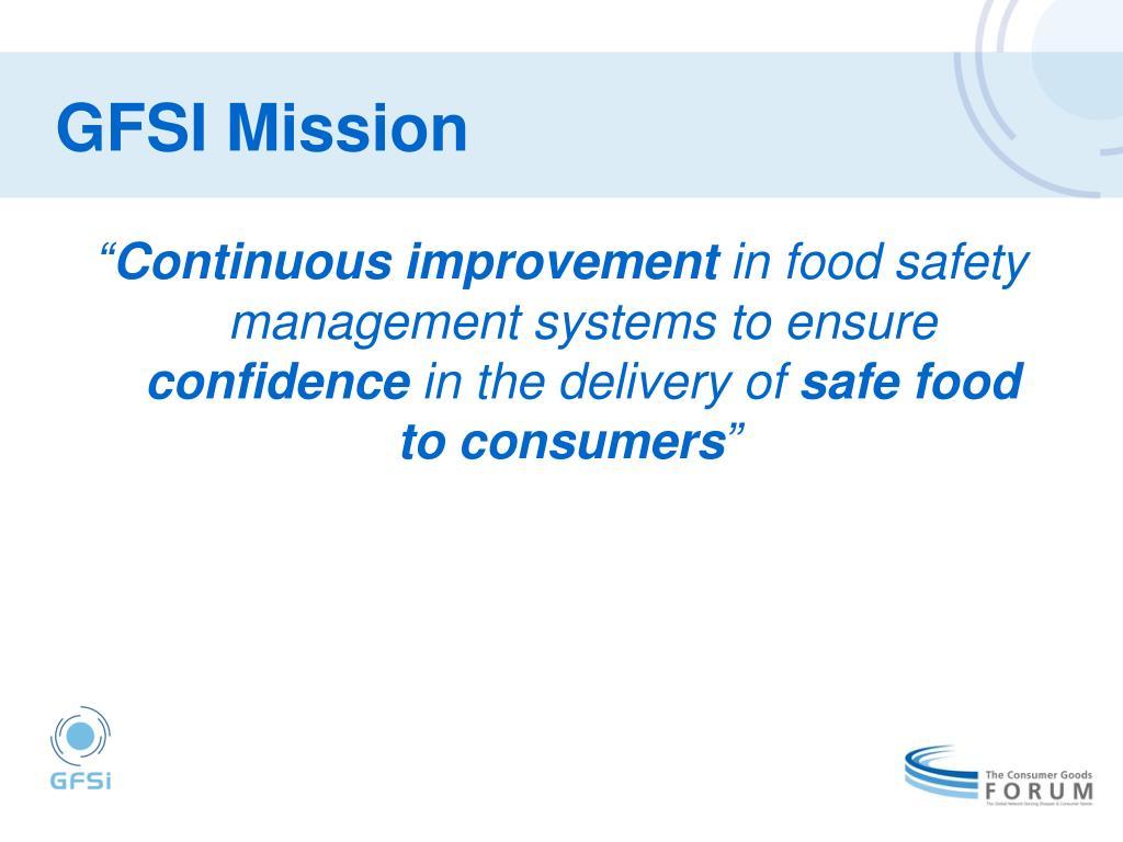 GFSI Mission