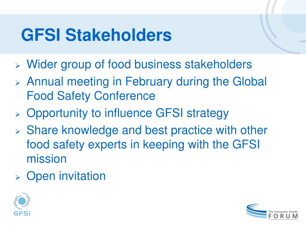 GFSI Stakeholders