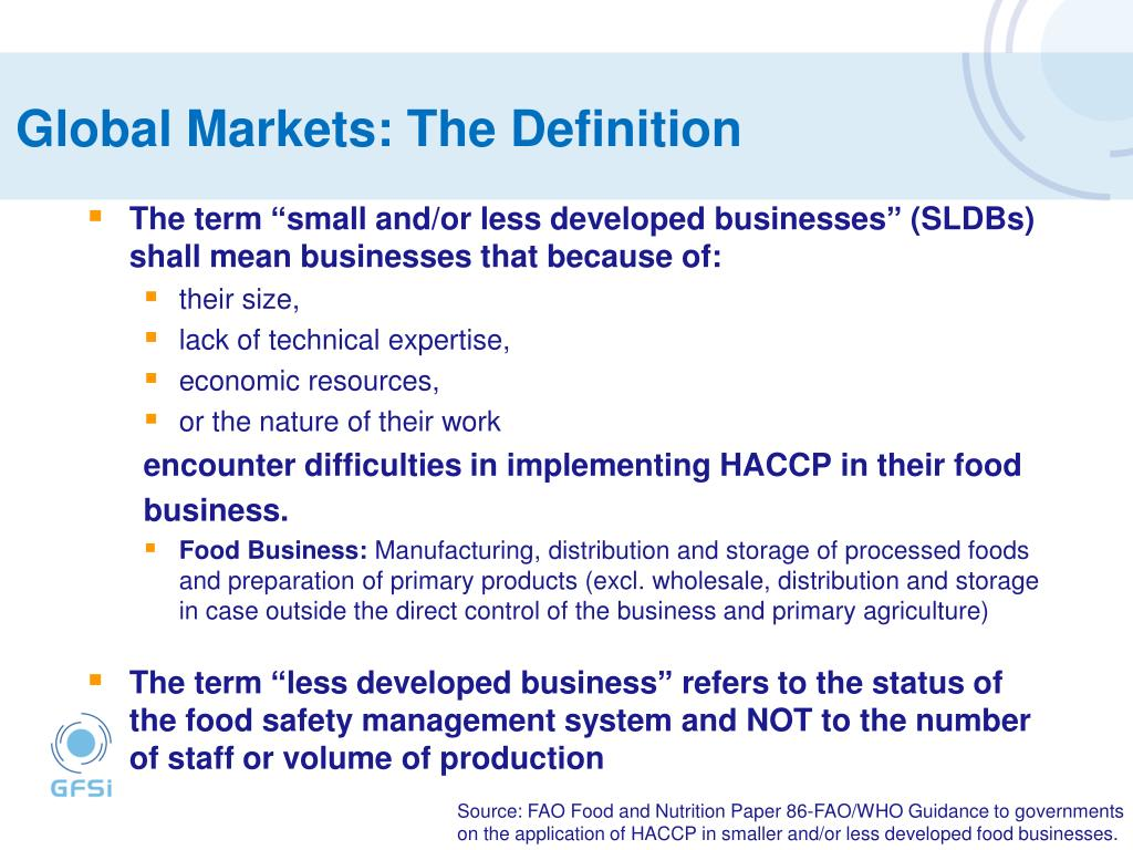 Global Markets: The Definition