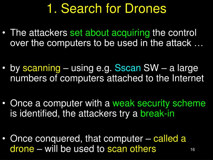 1. Search for Drones