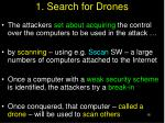 1 search for drones