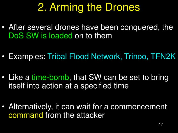 2. Arming the Drones