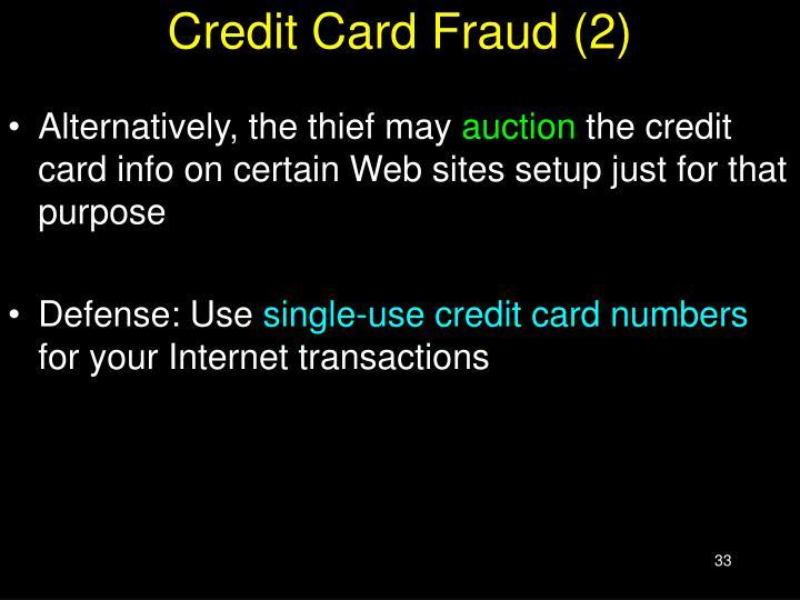 Credit Card Fraud (2)