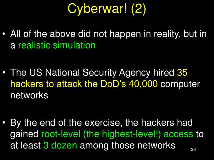 Cyberwar! (2)