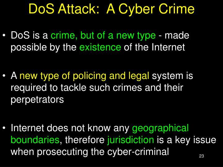 DoS Attack:  A Cyber Crime