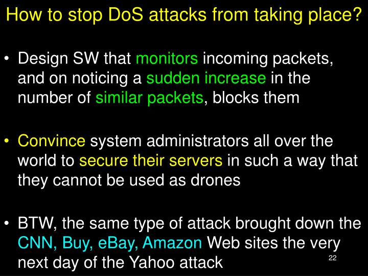 How to stop DoS attacks from taking place?