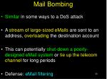 mail bombing
