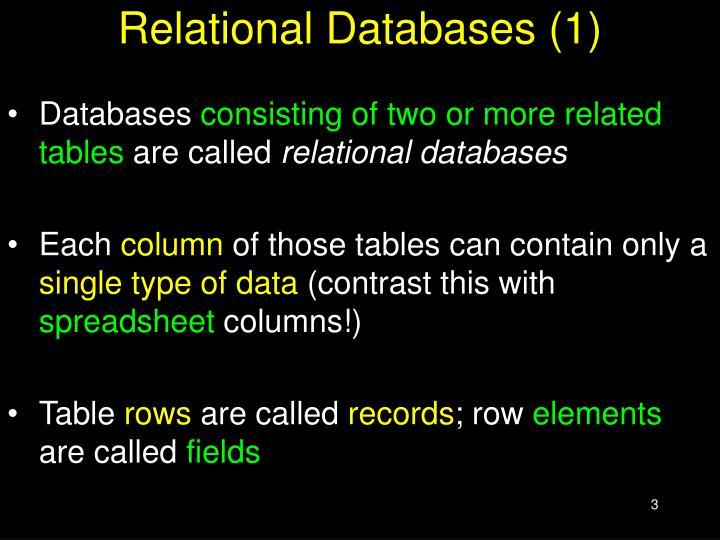 Relational Databases (1)