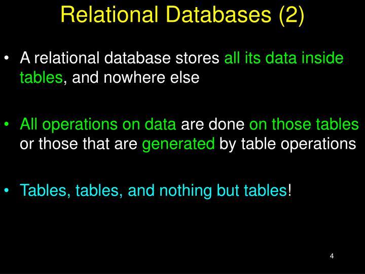Relational Databases (2)