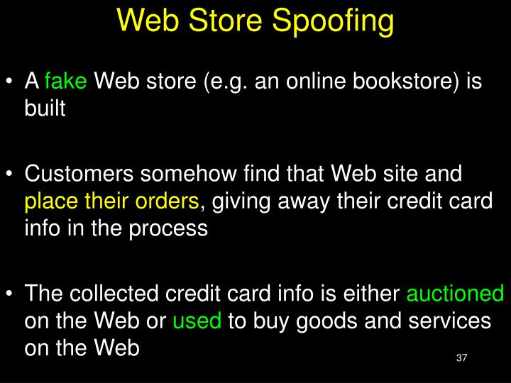 Web Store Spoofing